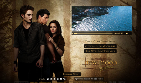 Home Page sito New Moon
